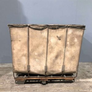 Industrial Canvas Laundry Cart