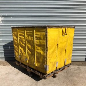Industrial Laundry Cart Yellow