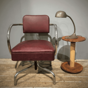 Industrial Textile Bobbin Occasional Table