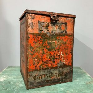 Large Square Vintage Coffee Storage Tin
