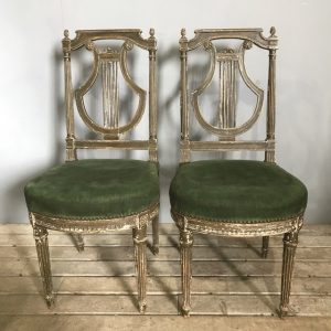Pair Of French Regency Styled Chairs