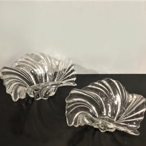 Pair Of Glass Freeform Bowls