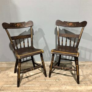 Pair Of Vintage Painted Chairs