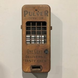Pulver Chewing Gum Vintage Vending Machine