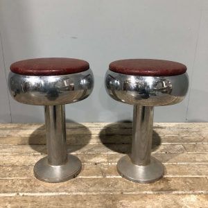 Red American Vintage Fountain Diner Stools