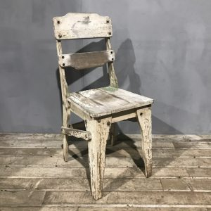 Rustic White Wooden Chair