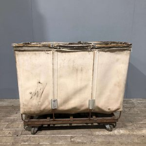 Small Industrial Canvas Laundry Cart