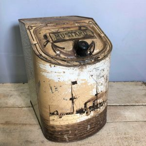 US Navy White Squadron USS Baltimore Mustard Spice Canister