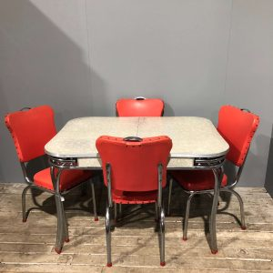 Vintage American Diner Style Table & Chairs