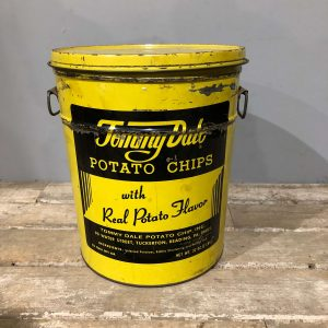 Vintage American Potato Chip Storage Tin