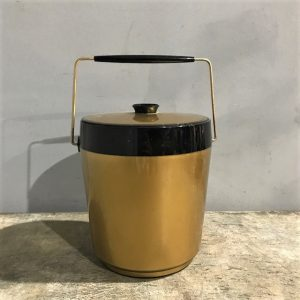 Vintage Black & Gold Ice Bucket
