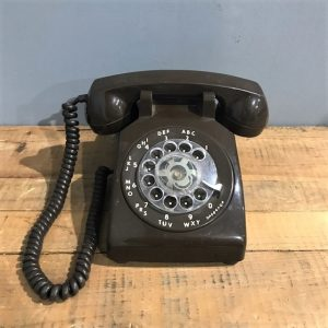 Vintage Brown Rotary Dial Telephone