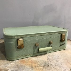 Vintage Mint Green Starline Suitcase