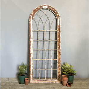 Vintage Style Large Arched Decorative Window Frame