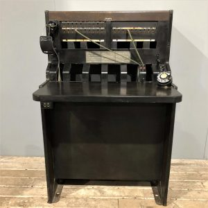 Vintage Telephone Switchboard Desk Unit
