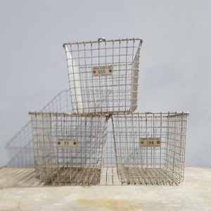 Vintage Wire Gym Baskets