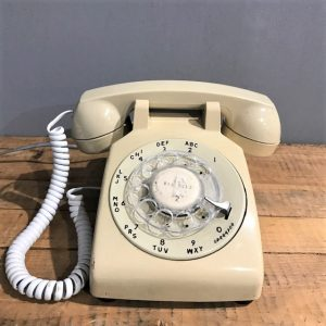 Vintage Off White Rotary Dial Telephone