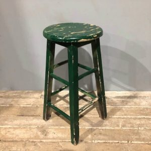 Wooden Green Stool