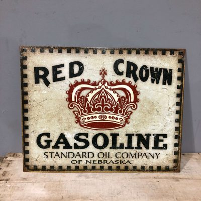 Red Crown Vintage Style Sign