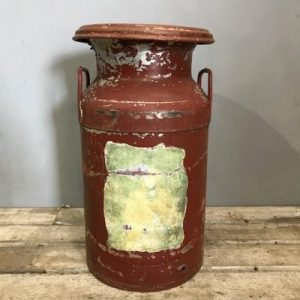 Red Vintage Milk Churn