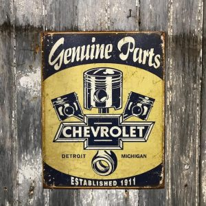 Vintage Style Sign For Chevrolet Parts