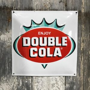 Vintage Style Enamel Double Cola Sign