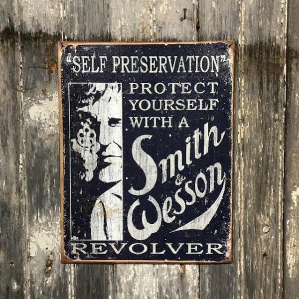 Vintage Style Smith Wesson Metal Sign