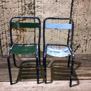 Vintage Metal Cafe Bistro Chairs
