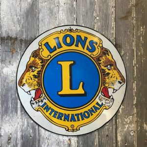 Vintage Lions International Metal Sign