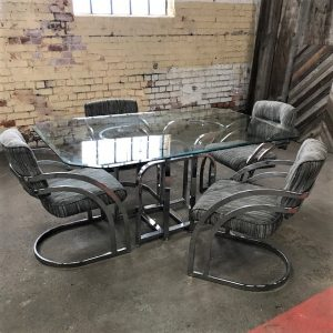 Milo Baughman Dining Table And Chairs