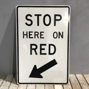 American Sign Stop On Red