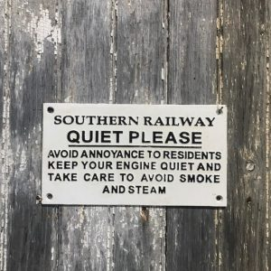 Cast Iron Railway Quiet Please Sign