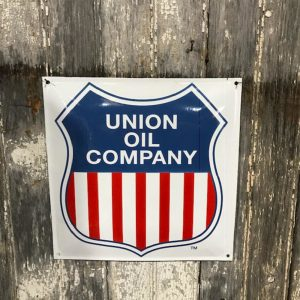 Vintage Style Enamel Union Oil sign