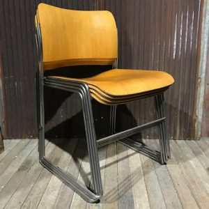 1982 David Rowland 40/4 Teak Stacking Chair