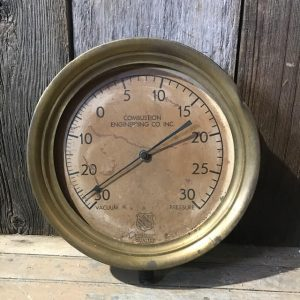 Large Vintage Combustion Engineering Gauge